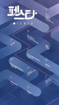 BTS Festa 2019 Timetable