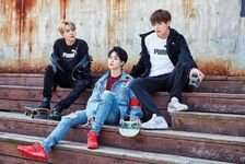 Suga, Jimin and V Puma Bog Sock