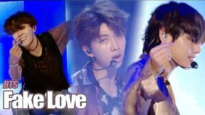 HOT BTS - FAKE LOVE , 방탄소년단 - FAKE LOVE Show Music core 20180609