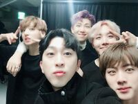 Jungkook, Rap Monster, J-Hope and Jin with Sleepy Feb 19, 2017