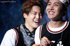 JiHope laughing