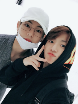 V and Jungkook Twitter October 8, 2017