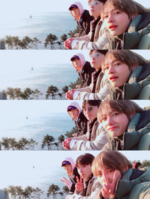 V, Park Seo Joon and Park Hyung-Sik Twitter Feb 8, 2018