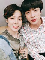 Jimin and Jin Twitter June 8, 2018