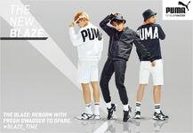 J-Hope, RM and Jimin Puma Blaze Time