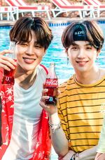 Jimin and Suga Coca Cola Korea Aug 2018