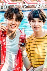 Jimin and Suga Coca Cola Korea Aug 2018