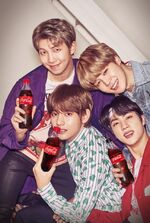 RM, Jimin, V and Jin Coca Cola Korea