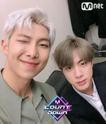 RM and Jin Twitter April 25, 2019
