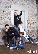 Jungkook, Suga, J-Hope and Jimin star1 Magazine Oct 2015