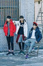 Jungkook, Jin and J-Hope Puma 2015