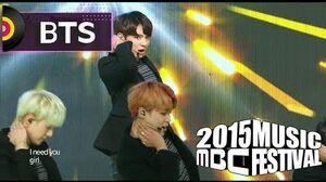 2015 MBC Music festival 2015 MBC 가요대제전 - BTS - I Need U + RUN, 방탄소년단 - I Need U + RUN 20151231