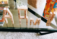 ARMY written with Jenga blocks