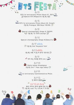 BTS Festa 2014 Timetable