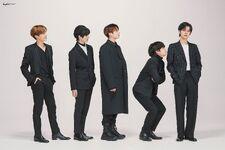 J-Hope, Beomgyu, Jungkook, V and Yeonjun Big Hit Entertainment 15th Anniversary Shoot