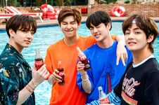 Jungkook, RM, Jin and V Coca Cola Korea Aug 2018 (1)