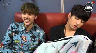 BANGTAN BOMB Sleeping Baby bothered with Jin - BTS (방탄소년단)