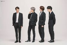 Jin, RM, Hueningkai and Soobin Big Hit Entertainment 15th Anniversary Shoot