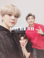 Jimin, RM and Jungkook Twitter Jan 1, 2019
