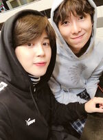 Jimin and RM Twitter Apr 8, 2018