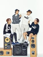 Jin, J-Hope, RM and V Puma Blaze Time (2)