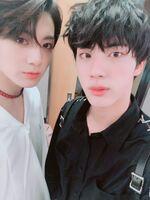 Jungkook and Jin Twitter May 31, 2018