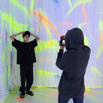 J-Hope and Jungkook at BTS Exhibition Aug 31, 2018