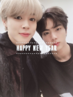 Jimin and Jin Twitter Jan 1, 2019