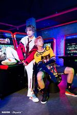 V and RM Love Yourself Her Shoot