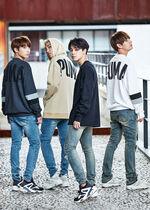 RM, Jimin, V and Jungkook Puma Bog Sock