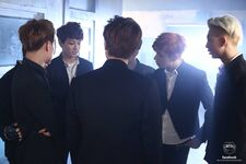 Boy In Luv MV Shooting 6
