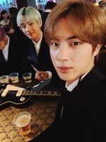 V and Jin Twitter Feb 11, 2019