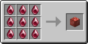 Crimson Middle Gem Block