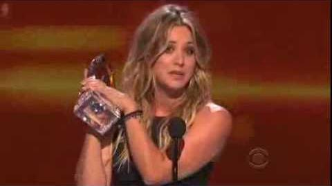 The People's Choice for Favorite Comedic TV Actress is Kaley Cuoco