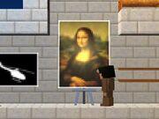 Painting blockheas mona lisa