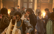 016 The Wolf and the Lamb episode still of Charlotte of Albret and Cesare Borgia