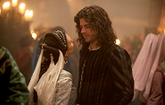 017 The Wolf and the Lamb episode still of Charlotte of Albret and Cesare Borgia