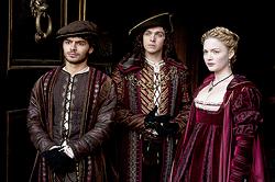 016 Lucrezia's Gambit episode still of Alfonso of Aragon, Frederigo of Naples and Lucrezia Borgia 250px