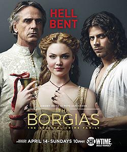 001 Season three promo photo of Rodrigo Borgia, Lucrezia Borgia and Cesare Borgia 250px
