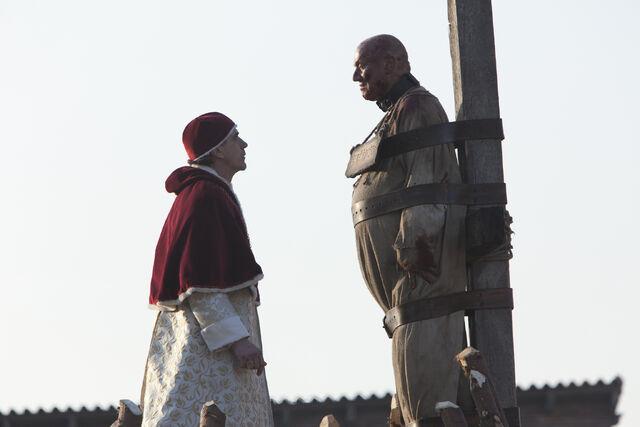 File:014 The Confession episode still of Rodrigo Borgia and Girolamo Savonarola.jpg