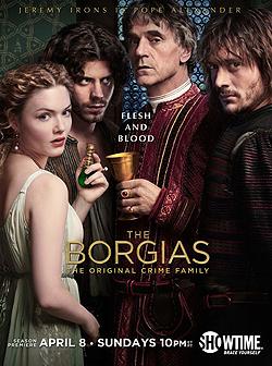 003 Season two promo photo of Lucrezia Borgia, Cesare Borgia, Rodrigo Borgia and Juan Borgia 250px