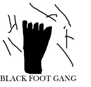 The Black Foot Gang Flag
