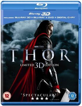 Thor blu-ray 3D blu-ray DVD digital copy