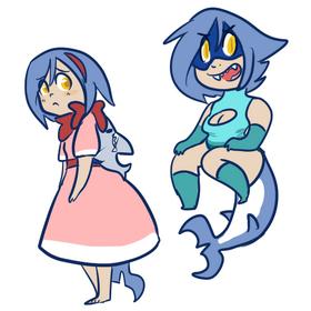 Shark Lass costume