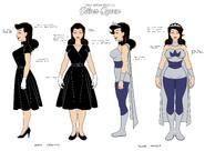 Silver Queen model sheet