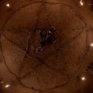 A pentagram magic circle