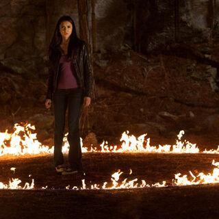 Kristen producing fire.