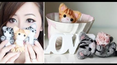 How to make cute felted kittens