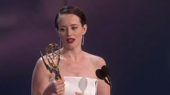 70th Emmy Awards Claire Foy Wins For Outstanding Lead Actress In A Drama Series