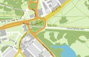 Hyde park corner map